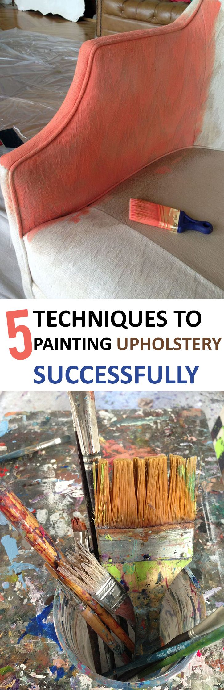 Awesome ways to paint upholstery, and they're easy!