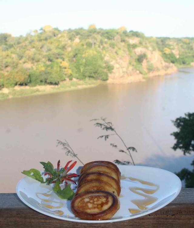 Peter's pancakes overlooking the Save river..
