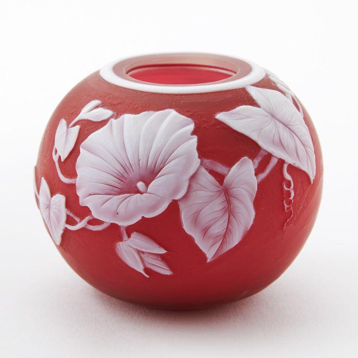 English cameo glass vase attr. to Thomas Webb.