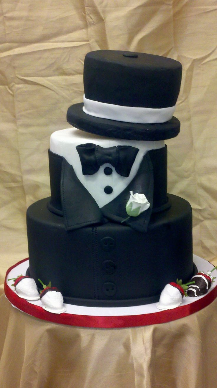 Tuxedo Top Hat Cake Beautiful Babies Pinterest