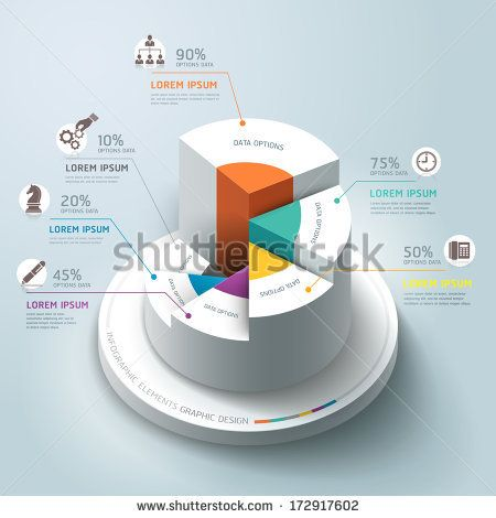 Business Infographics circle graph Vector illustration. can be used for workflow layout, banner, diagram, number options, step up options, w...