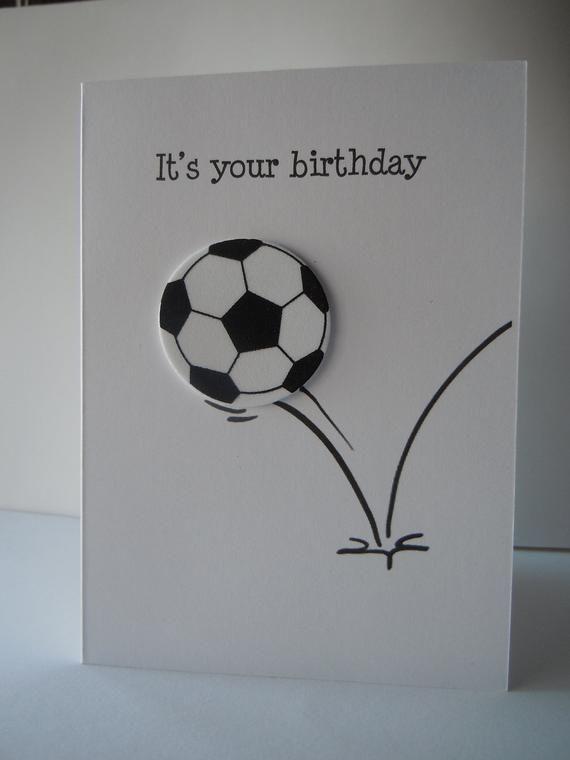 Fussball Ball Geburtstagskarte Fussball Geburtstagskarte Etsy