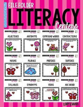 File Folder Literacy Centers- FEBRUARY