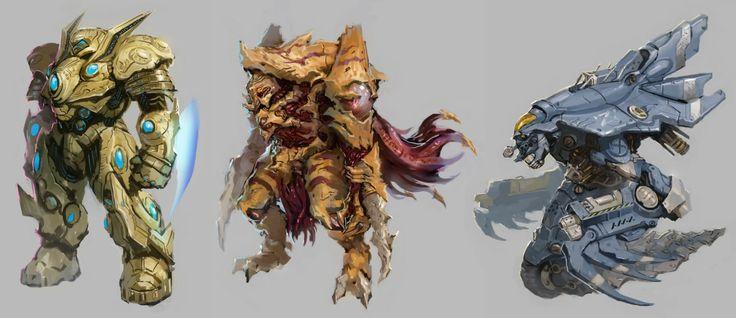 StarCraft Redesigns, Maung Thuta on ArtStation at https://www.artstation.com/artwork/starcraft-redesigns