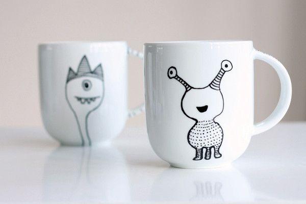 Картинки, прикольные рисунки на чашках своими руками