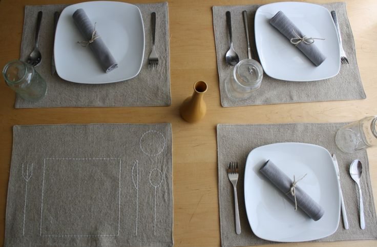 showing placemats together
