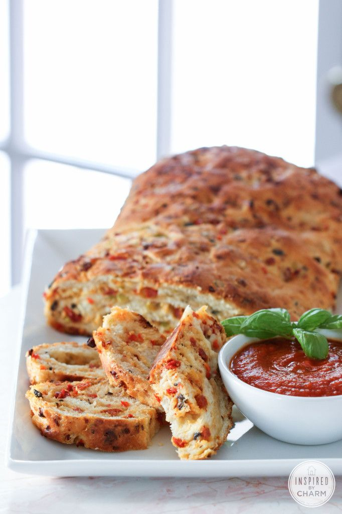 Pizza Bread - delicious bread that is totally customizable! A party favorite!