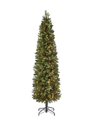 Glucksteinhome 7ft Robson Slim Tree with 8 Function Colour Changing
