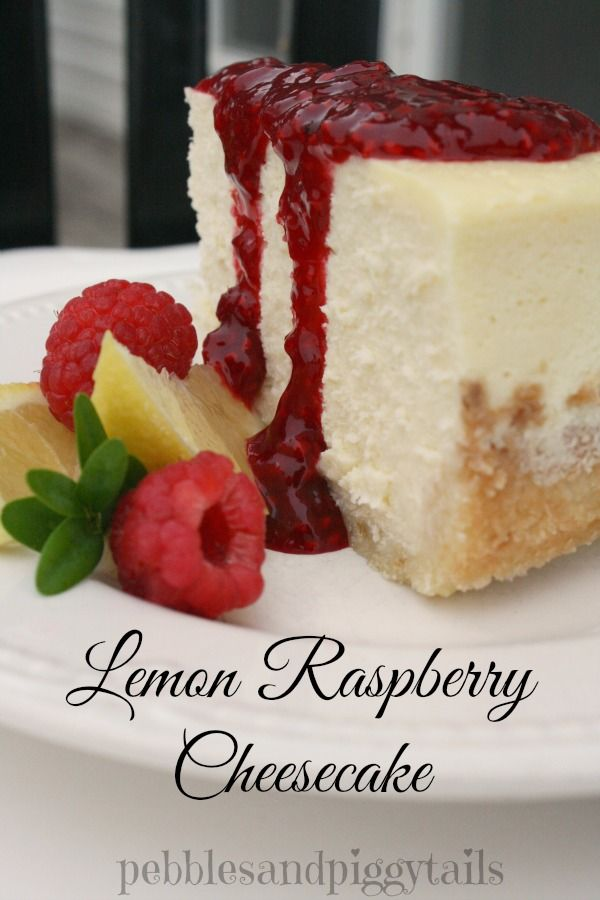 Pebbles & Piggytails: Raspberry Lemon Cheesecake Recipe Tutorial