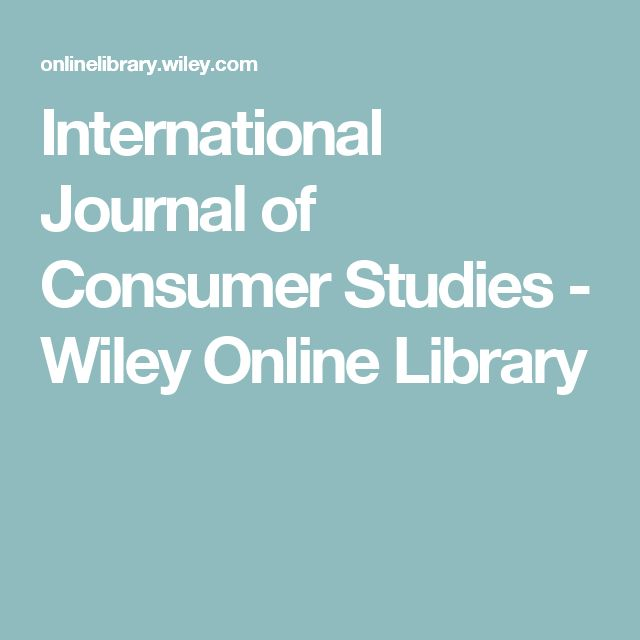 International Journal of Consumer Studies - Wiley Online Library