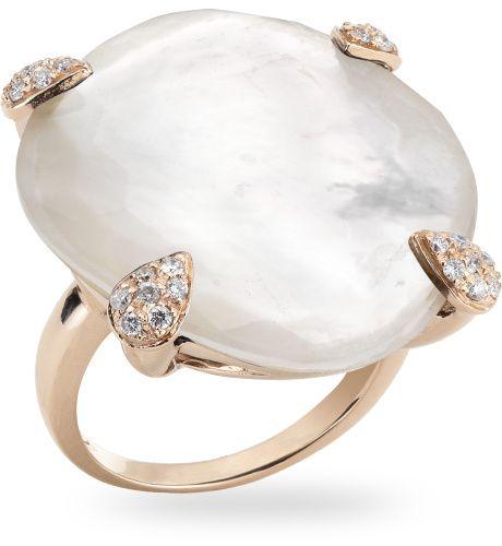 Anello in oro rose 18 kt. con 0.21 ct. di diamante - #Zoccai #ring #gold #diamonds