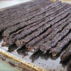 Ground Meat Jerky | As promised, here's the jerky recipe I'm (loosely) following. I looked around for ground meat jerky recipes after I read that commercial jerky is often made with ground meat. We knew that jerky was pretty soft, and we thought it would work better for the people in my family that have teeth issues... sensitive teeth or braces. (I'm sorry, Dr. Price, but we learned about you too late.) | GNOWFGLINS.com