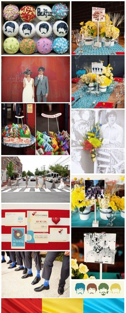 The Beatles Wedding, inspiration board by The Simplifiers | Austin