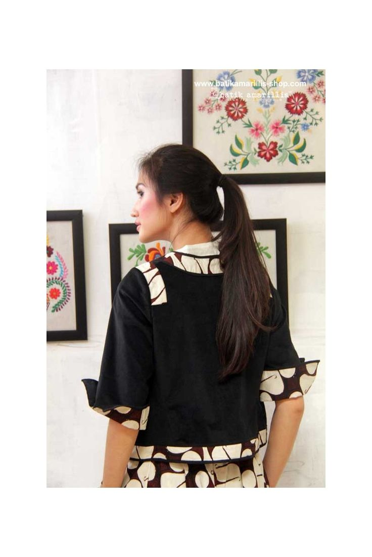 Batik Amarillis's Birdy jacket  AVAILABLE at Batik Amarillis webstore www.batikamarillis-shop.com  ... The impeccably detailed cheerful design combines unique 'Birdy' applique pockets, a cropped silhouette with three-quarter sleeves, contrast-panel detailing and a beaded button,this is one of the kind!