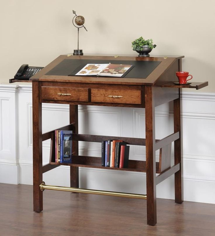 Amazing Anniston Solid Wood Stand Up Desk