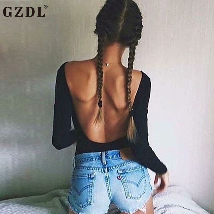 GZDL Sexy Autumn Clubwear Bodysuit Jumpsuit Hollow Out Backless Romper Long Sleeve O Neck Skinny Fashion Women Bodysuits CL3381