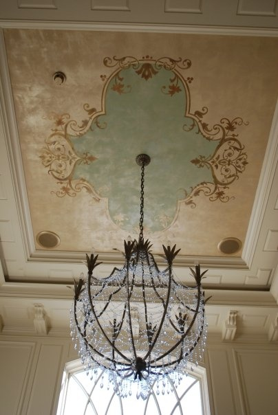 Leslie Burton Created This Beautiful Patterned Ceiling With A Panel From  Our Modello Decorative Masking Stencil Collection