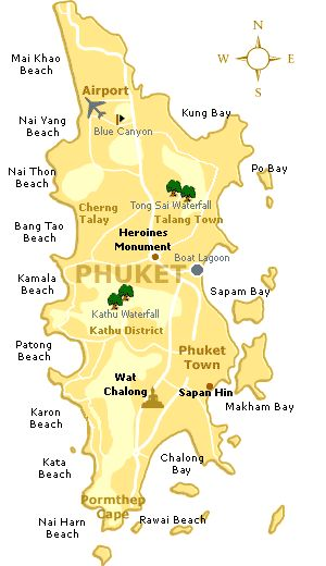 Phuket Island, a map so you know where all the beaches are when you get there! www.etihad.com