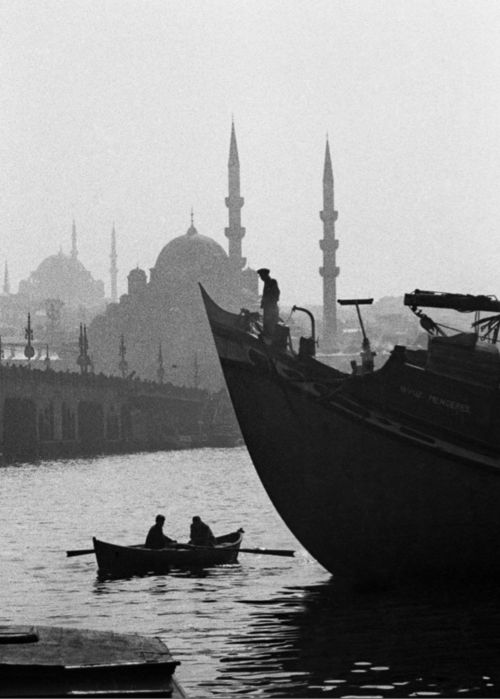 Arabesques of the fishing boat, ship, bridge, and mosques ... forever Istanbul!