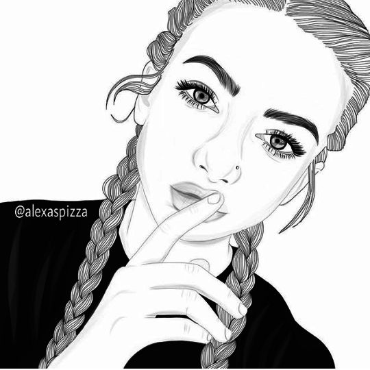 54 best outlines images on pinterest girl drawings for Amazing drawings of girls