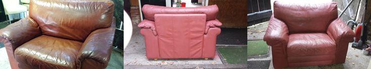 Een mooi voorbeeld van een geverfde leren stoel  https://www.shabbytreats.com/blog/leer-verven-met-krijtverf/