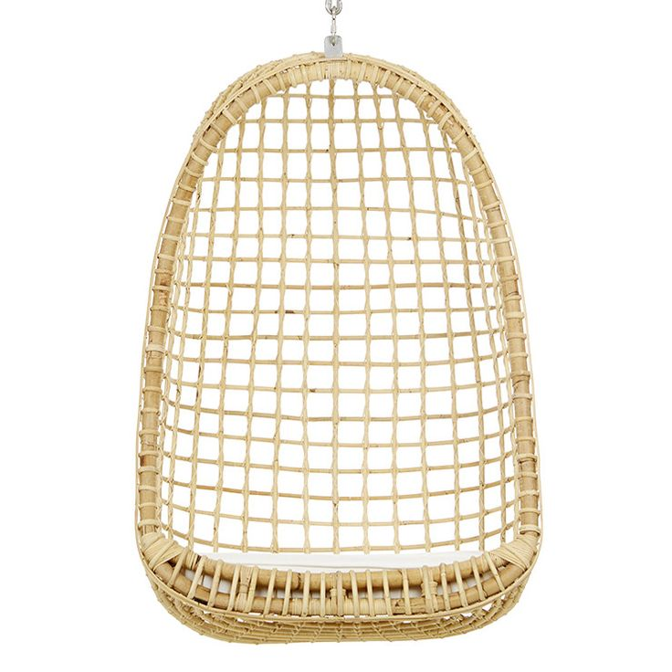 GlobeWest - Plantation Nest Hanging Chair in natural rattan