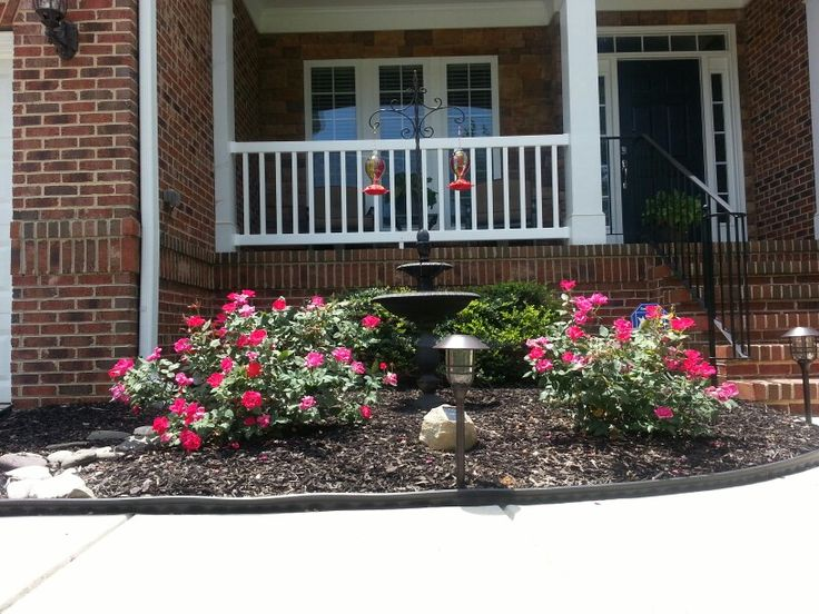 Front flower bed yard flowers outdoors pinterest for Small flower beds front homes