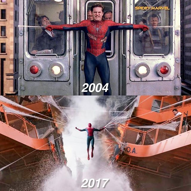 Look at the guy above Tobey Maguire's right hand