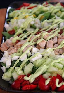 Cobb Salad (Jo's Version) With Avocado Garlic Dressing