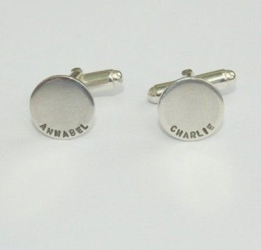 Silver Name Personalised Cufflinks £75.00