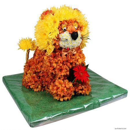 A kind lion