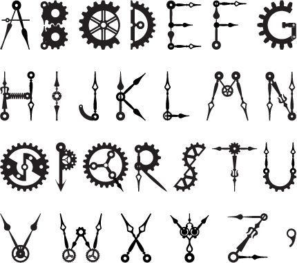 Making RetroTech: A Steampunk / Clock / Gear Font