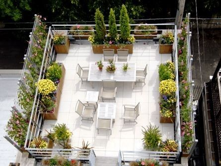 12 best images about roof gardens on pinterest gardens for Garden on rooftop designs