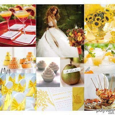 Red and Yellow Wedding!
