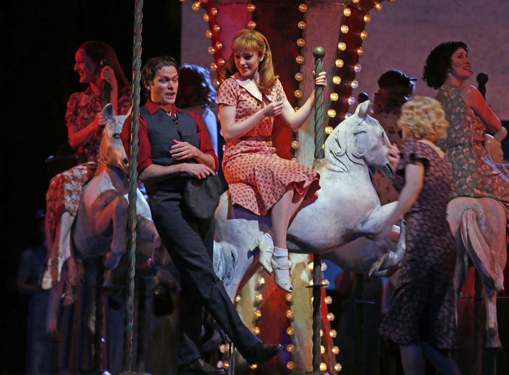 "Steven Pasquale as Billy Bigelow and Laura Osnes as Julie Jordan in Lyric Opera of Chicago's ""Carousel,"" Apr. 2015. Chicago Tribune - Photos"
