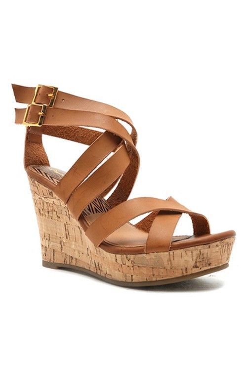 This is what you get when you add a strappy sandal to a cute wedge.
