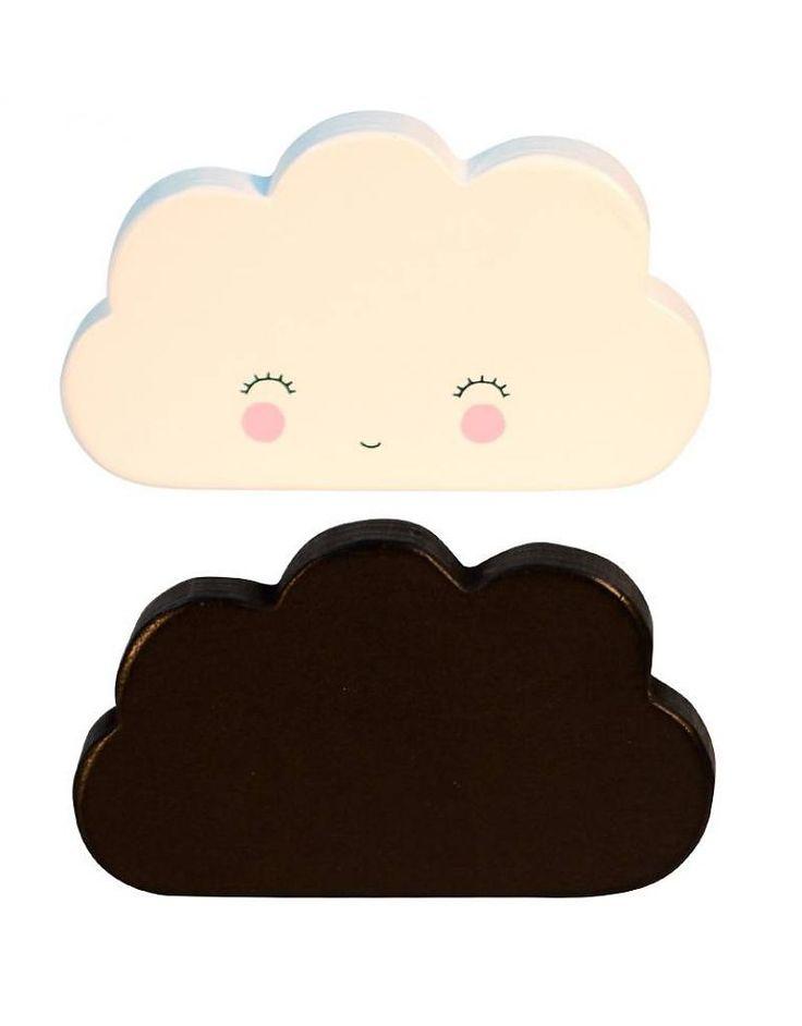 סט מתלי עץ- עננים (שחור+לבן)