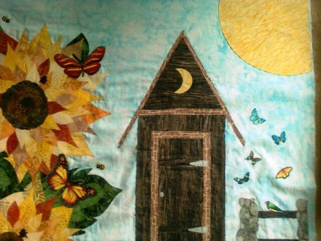 32 best images about outhouse on pinterest quilt free for Garden shed quilting