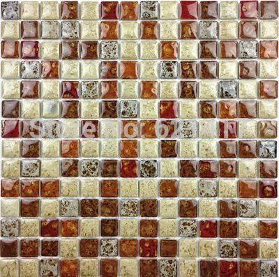 Deep Red Leopard Classic graceful Furnace Transmutation Ceramic Mosaic Tiles For Kitchen Backsplash Shower Dining Room Wall Tile-in Wall Stickers from Home & Garden on Aliexpress.com | Alibaba Group