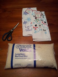 How to make a Rice Bag Heating Pad TUTORIAL - out of a $1 towel