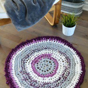 tapis rond fait main crochet