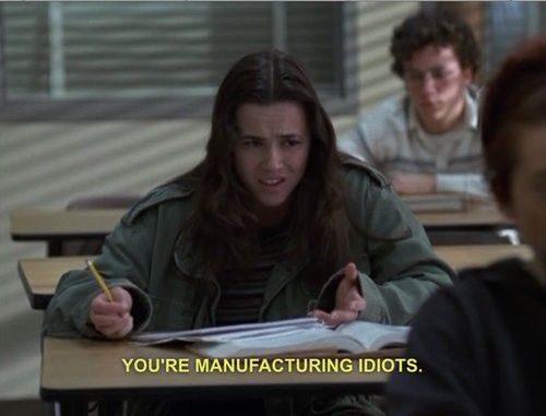 freaks and geeks. What I wanna say to a couple of my old teachers really bad