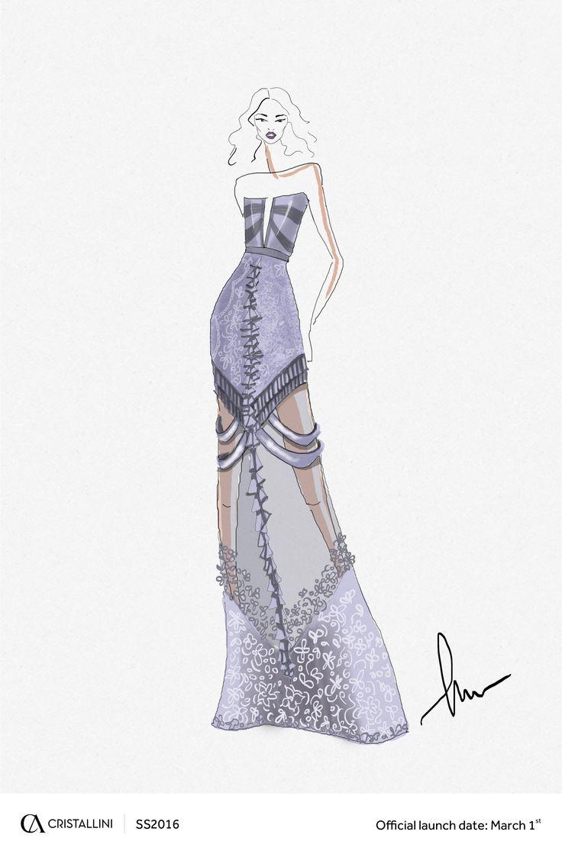 CRISTALLINI  #sketch #eveningdress #luxury