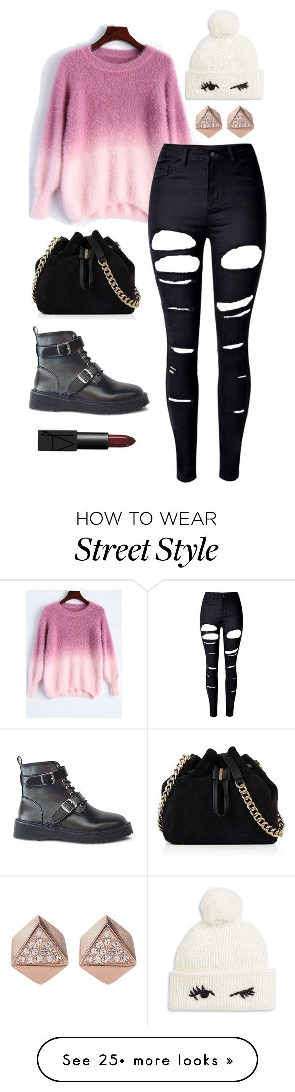 """WHO really I AM"" by jamie-tiu on Polyvore featuring WithChic, Karen Millen, Kate Spade, FOSSIL and NARS Cosmetics"