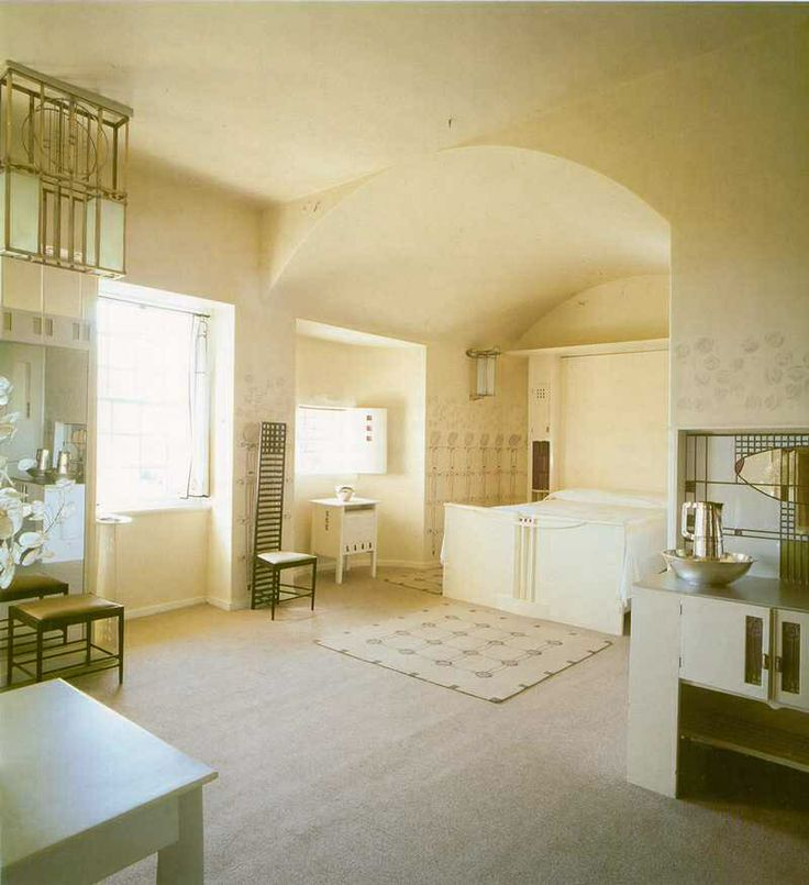 Classic Mackintosh Hill House Interior Design With Nouveau Art Style