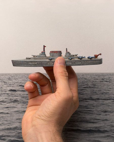 """For our Winter 2014 issue, """"Lit."""", distinguished writers Geoff Dyer and Janet Malcolm attempt to find common ground on their abiding interest in photography, and in an unlikely turn of the conversation, settle on aircraft carriers.   image: Tamara Shopsin & Jason Fulford, photo-illustration (after Kenneth Josephson), 2014"""
