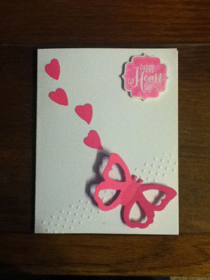valentine card using candy