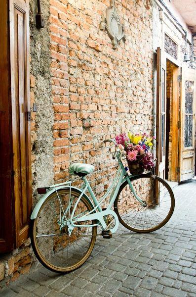 Eu e a minha paixão por bicicletas. Queria muito um casamento para colocar flores dentro da cestinha da bicicleta. Ia ficar tão romântico... Fabiana Moura - Projetos Personalizados