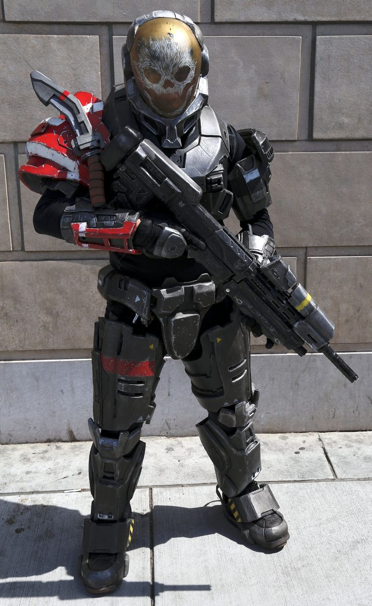 as seen in the video game halo reach - Halo Reach Halloween Costume