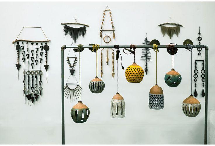 One Kings Lane - Artisanal: Heather Levine - Green Pendant Sconces, Pair
